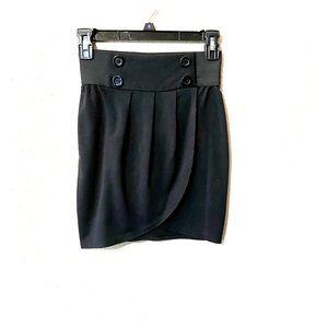 Little Black Wrap Style Skirt